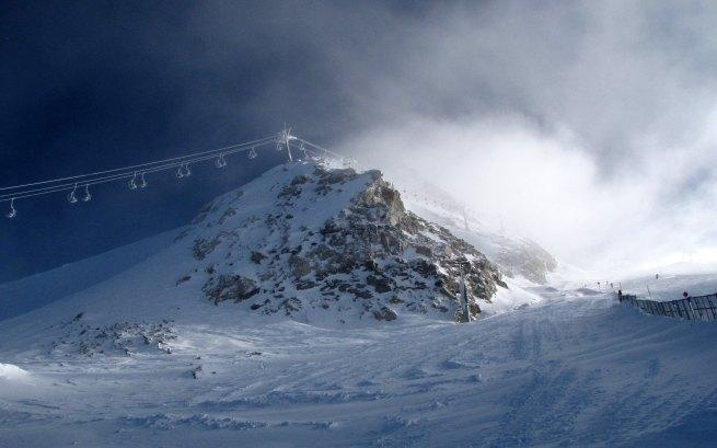 Jak zwykle nad Gefrorene Wand kłębią się chmury
