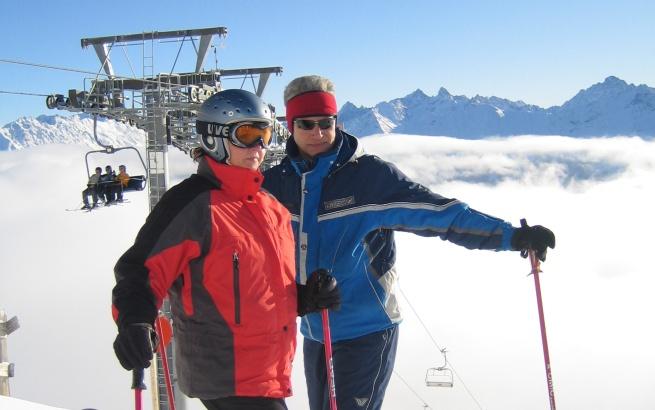 Dorota i Marek na szczycie Mittl. Sattelkopf 2310 m n.p.m.