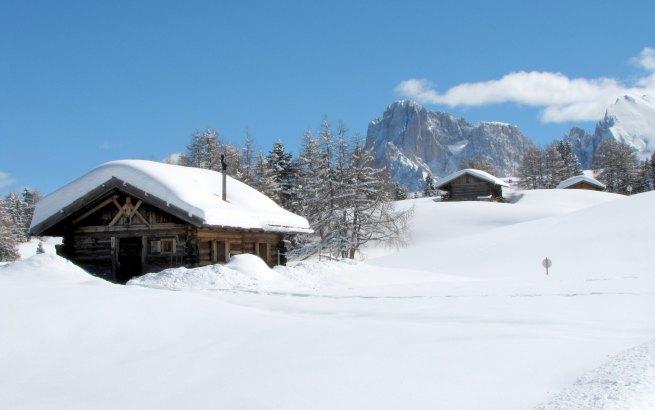 Szałasy na Alpe di Siusi