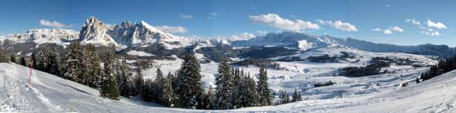 Alpe di Siusi. Widok z Monte Piz 2109 m n.p.m.