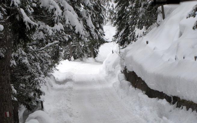 droga terenowego autobusu z Monte Pana do Alpe di Siusi