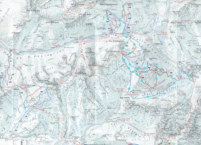 mapka 10 - Passo San Pellegrino