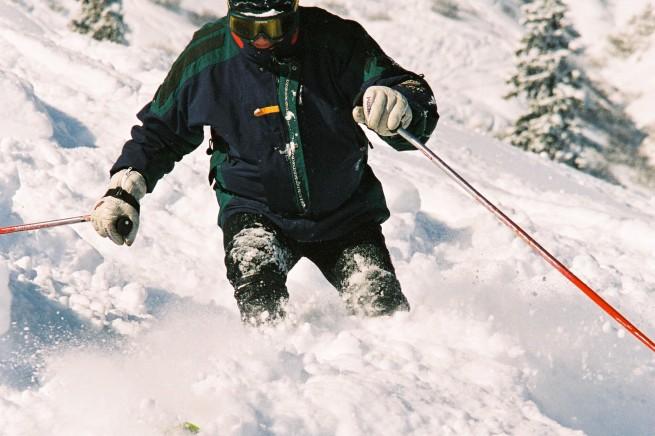 A to Maciek... Piękna była wówczas zima... Śniegu po uszy... (2003 r)